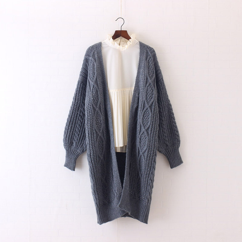 H.SA 2017 Women Long Cardigans Autumn Winter Open Stitch Poncho Knitting Sweater Cardigans V neck Oversized Cardigan Jacket Coat 15