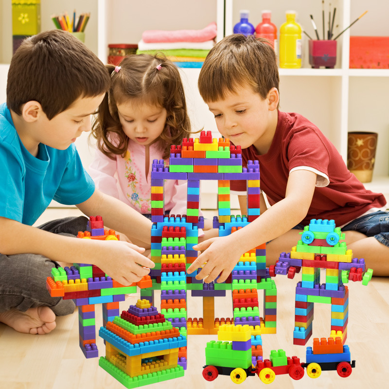 Baby DIY Plastic Funny Blocks Jigsaw Toys Kids Children Educational Toys Gifts Kindergarten Teaching Tools Set RT022<br><br>Aliexpress