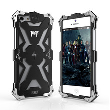 Luxury Shockproof Metal Aluminum case For iphone 5 5s 5c Thor Ironman Armor Design cell phone Bag Cases With Retail Box(China)