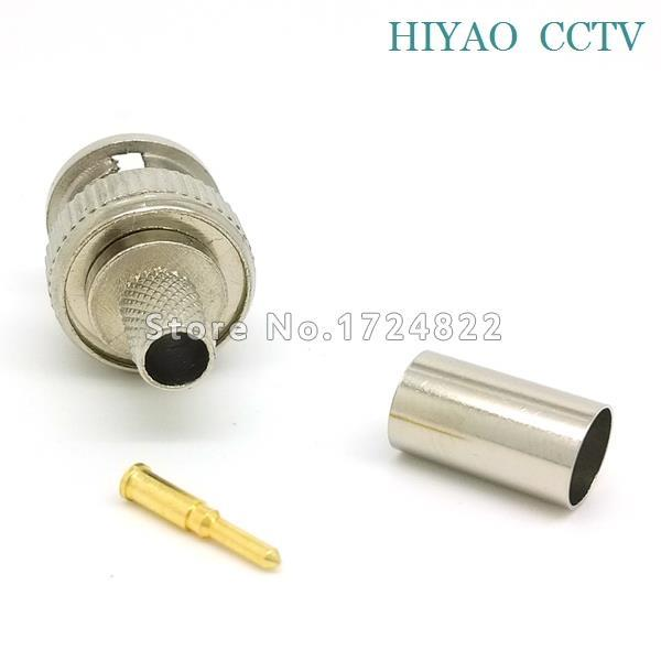 Freeshipping 10PCS BNC Male Crimp Plug for RG59 Coaxial Cable RG59 3-piece Crimp Connector Plugs RG59<br><br>Aliexpress