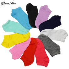 1 Pair Nice Female Lady Girl Candy Color Women Short Ankle Boat Low Cut Socks Crew Casual For Woman best selling