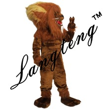 Lion king mascot costumes for adults  circus  christmas  Halloween Outfit Fancy Dress Suit Free Shipping   real picture