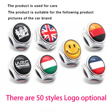 arrival Car logo alloy plate screw fixed license plate frame license plate frame bolts take Cool and personalized style Stickers