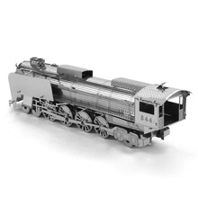 BD, 3D Puzzle Metal,Educational Toys,Jigsaw Puzzles For Kids,steam locomotive Model Metal Stainless Steel,DIY Assembly Model17(China)
