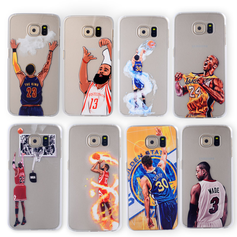 Nba Basketball Player Star Phone Case Samsung Galaxy S4 Note 3 S5 S7 S6 edge Lebron James Harden Curry Jordan Kobe Cover