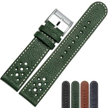 NESUN Free Shipping  20 mm/22 mm Calfskin Leather Watch Band Suitable For Men's Citizen Watches  Wholesale and Retailer