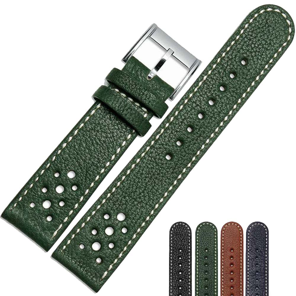 NESUN Free Shipping  20 mm/22 mm Calfskin Leather Watch Band Suitable For Mens Citizen Watches  Wholesale and Retailer<br>