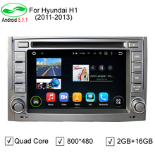 2 Din 2GB/16GB ROM Quad Core Android 5.1.1 Auto PC 2 Din Android 5.1 Car DVD GPS Video Player For Hyundai H1 2011 2012 2013