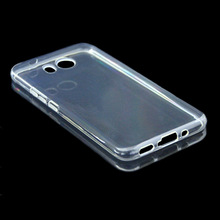 200pcs/lot transparent smooth Soft TPU Cover Case for HTC U11/Ocean(China)