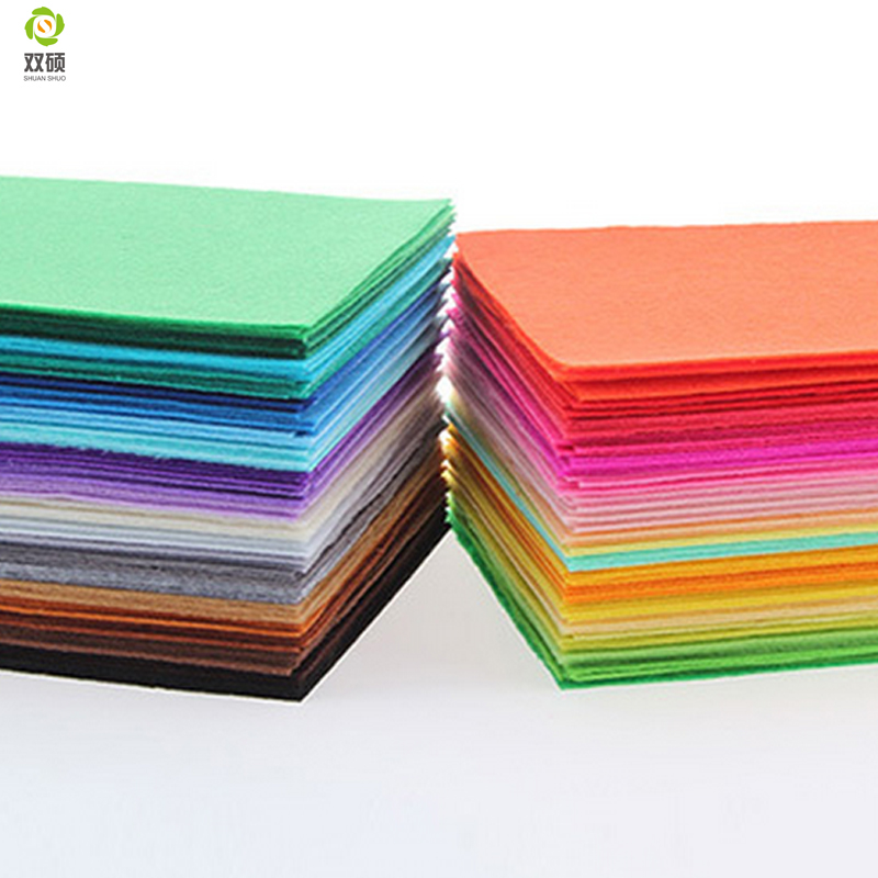 Polyester Felt Fabric Felt Cloth For DIY Handmade Sewing Home Thickness 1mm Mix 40 Colors 15x15cm 5.9x5.9inch N-40S(Hong Kong)