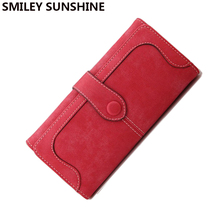 Vintage Women Wallets Female Coin Purses High quality PU Leather Long Big Wallets Lady Coin Purses Clutch Wallets Money Bag 2017(China)