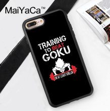 Training To Go Super Saiyan Dragon Ball Z Phone Case Cover For iPhone 7 7 Plus 6 6S Plus 5 5S 5C SE 4 4S Soft TPU Back Cover