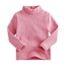 2017 Cotton Children's Long-Sleeved T-shirt Winter Baby Boys and Girls Long-sleeved High-necked T-shirt Bottoming Shirt