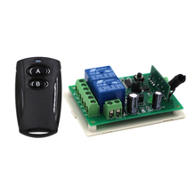 New Black Color 24V 2CH RF Wireless Remote Control Switch Transmitter +Receiver Household Appliances/Lamp 315MHZ