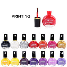 1pcs 26 Color Stamping Nail Polish Professional Painting Beauty Konad Nail Polish Nail Color Printing Nail Enamel