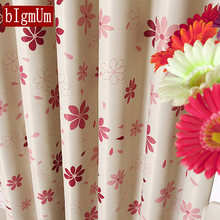 Pastoral Design Floral Window Curtains Fabric Sheer Curtains For Kitchen Living Room Brown/Pink Kids Tulle Curtain Window Drapes(China)