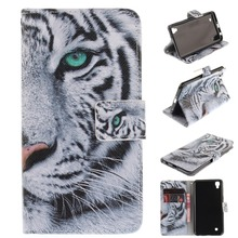 for LG X Power Case Flip PU Leather Stand Wallet Cover for LG X Power K220 with Stand Function Card Holder Tiger Lion