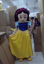 New Snow White Mascot Costume Suit Fancy Dress Cartoon Clothing Adult Size free Shipping