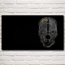 Dishonored Skull Mask Steampunk Video Game Art Silk Poster Prints Home Wall Decor Painting 11x20 16x29 20x36 Inch Free Shipping