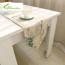2017 New Europe Cotton Linen Tablecloth Printed Butterfly Dining Table Cover Rectangular Elegant Home Party Wedding Decoration
