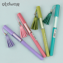 4PCS New Cute Tassel Pendant Gel Pen Creative Gift School Office Stationery Writing Supplies 0.5mm(China)