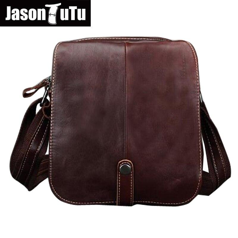 JASON TUTU Genuine Leather crossbody bags Cow Leather Multi-function shoulder bag Brands men messenger bags small bag HN54<br>