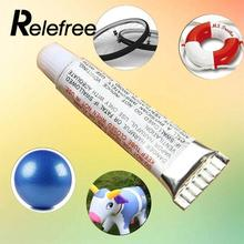 Relefree PVC Adhesive Inflatable Repair Glue Tube Patch Kit For Toys Boat Swim Ring Pool Yoga ball stool chair(China)