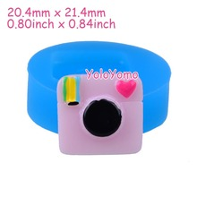 F418YL 21.4mm Camera Silicone Push Mold - Dessert Mold Cake Decorating Fondant Craft, Resin, Gum Paste, Candy, Oven Safe, Icing(China)