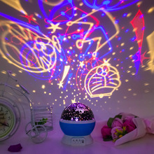 Magic Rotating Night Light Projector Spin Starry Sky Star Master Children Kids Baby Sleep Romantic Led USB Lamp Projection(China)