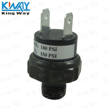 FREE SHIPPING-King Way- 12V/24V Air Pressure Switch For Train Horn Compressor Rated 150-180PSI