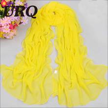 New arrival 2016 Fashion solid color silk chiffon scarves spring autumn women's plain scarves cachecol P5A16017