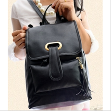 new best selling little fresh art cute casual male and female students tongue backpack PU leather backpack