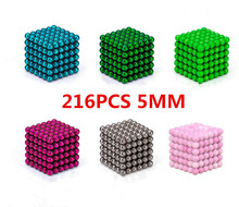 216pcs 5mm cube balls magic cube Puzzle Toys Relieve Anxiety Magic Cube Balls Education Toy hot sale