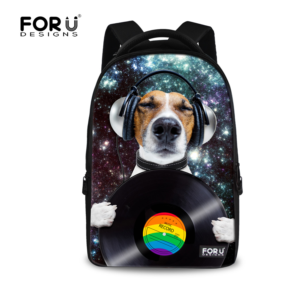 Galaxy Star Space Women Backpack Cute Dog Printed Backpack for Teenage Girls Large 17 inch Children Laptop Computer Backpacks<br>