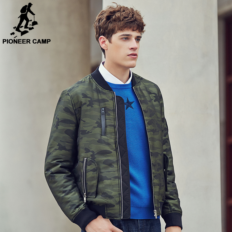 Pioneer Camp Thin cotton coat men 2017 brand clothing high quality Army green Men's Jacket male Winter autumn Overcoat 677115