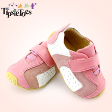 TipsieToes Brand Casual Baby Kid Toddler Shoes Moccasins For Girls 2018 Autumn Spring Fashion Nmd Sneakers Yeezys Burbry Leather(China)