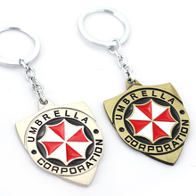 Hot online game Resident Evil Umbrella Corporation Logo Style Metal Pendant Keychains car keychain Keyring punk style HF11237