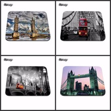 London Tower Bridge And Bus Cool Game Custom MouseMats Rubber Pad 18*22cm and 25*29cm 20cm*25cm*0.2cm No Overlock Mouse Pad
