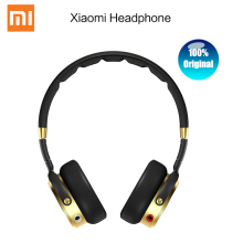 Original Xiaomi Headset Mi HiFi Stereo Headphone Mic Foldable 3.5mm Music Earphone Black+Champagne Gold Microphone - MI-ARISING Store store