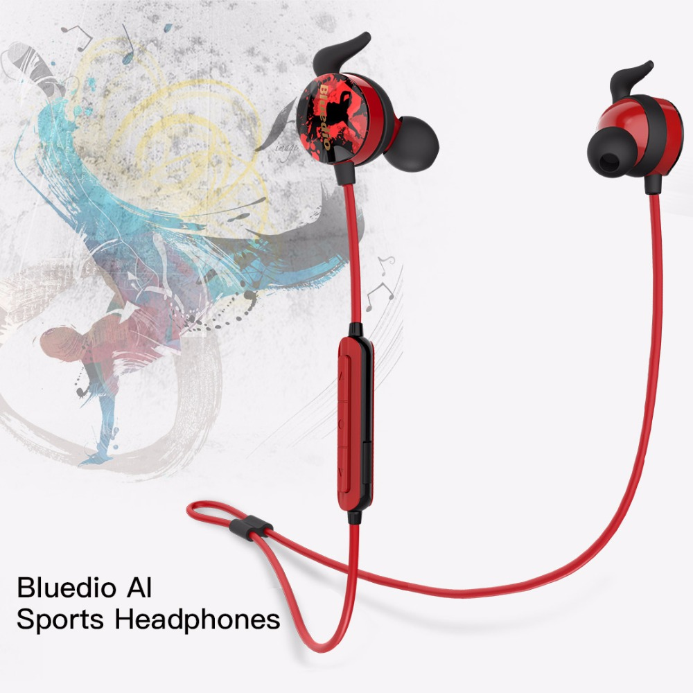 Bluedio Ai Sports bluetooth in-ear earbuds Built-in Mic BT 4.2 earphone<br>