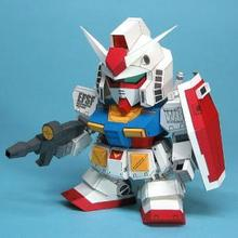 SD Gundam RX-78 Ka Edition (5 pages edition)  3D Model Paper Doll Toy