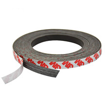 Aoshike 1M5M 10*1mm Stripe magnets Rubber soft magnet Neodymium strong magnetic tape sheet material(China)
