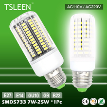 11.11 Big Sale +Cheap+ 7W-25W High Quality Lamp LED Corn SMD5733 E27/E14/B22/G9/GU10 Milky/ Transparent 110V 220V Led Light Bulb