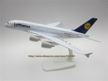 20cm Metal Airplane Model Air Germany Lufthansa Airlines Airbus 380 A380 Airways Plane Model W Stand Aircraft Gift(China)