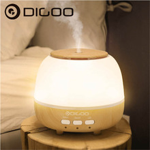 Digoo DG-HM1 400m Pearl Wood Grain Multifunction Aroma Diffuser Air Humidifier With Anion Air Purifier Color Changing LED Light(China)