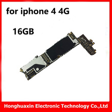 10pcs main board for iphone 4 4G 16GB original unlocked motherboard good working installed IOS system logic board