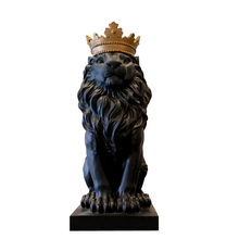 Modern Abstract Crown Lion Ornaments Home Accessories Living Room Wine Cabinet Office Desk Room Decorations Wedding Gift(China)