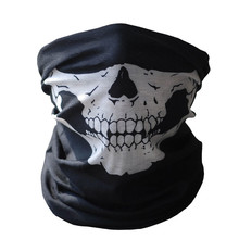 Hot Black Skull Mask Bandana Bike Motorcycle Helmet Neck Face Mask Half Face Paintball Ski Sport Headband Military Game Masks