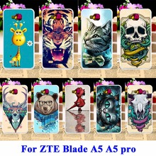 AKABEILA Rubber Covers For ZTE Blade AF3 A3/ZTE Blade A5 A5 pro Cases AF 3 C341 T221 Bags Animal Panda Tiger Lion Shell(China)