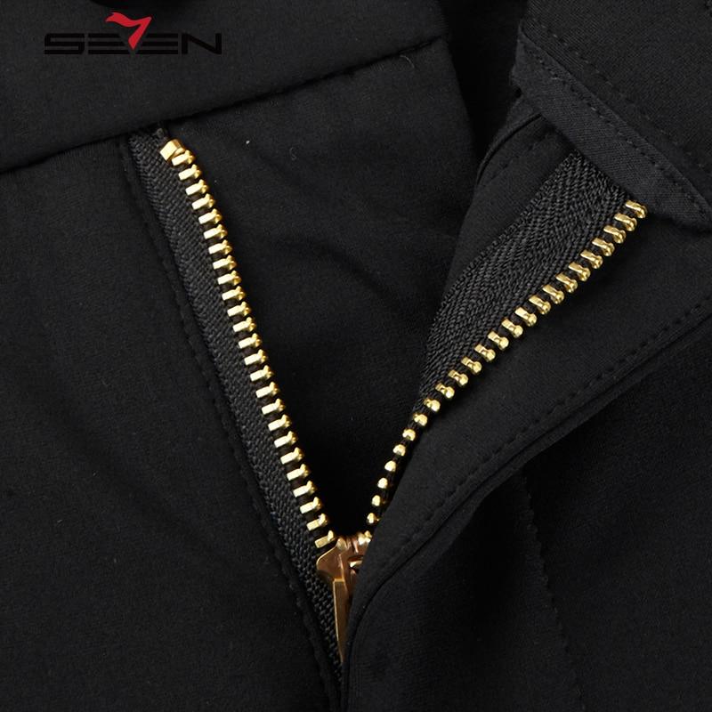 Seven7 Brand Men Straight Long Pants Black Regular Fit Casual Pants Flat Front Summer Lightweight Nylon Pants 112S88130
